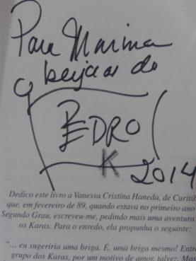 autografo pedro bandeira