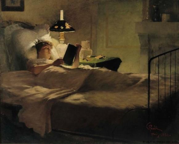 Evaning reading George Pauli 1884