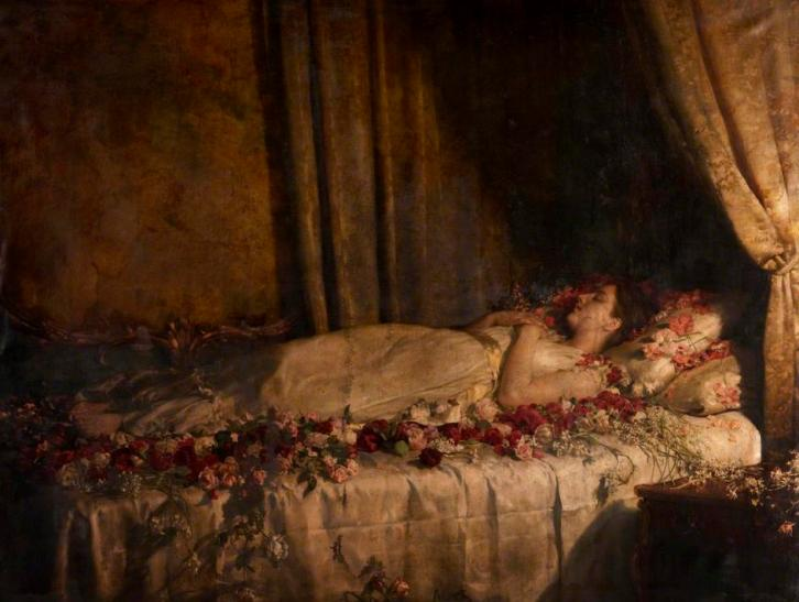 The Death of Albine, de John Collier (1895)