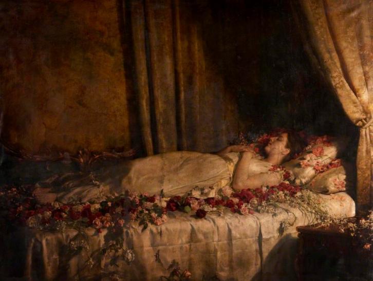 The Death of Albine, de John Collier (1895)