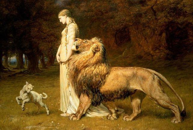 Briton_Rivière_-_Una_and_the_Lion